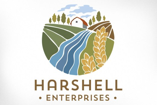 Another local farm, Harold and Shelley wanted to communicate the idea of a hardworking family business that is honest, respectful, fun loving, innovative, passionate, community oriented, committed to the industry, advocates of agriculture, and who are educators and leaders in their field. A rich illustration was developed depicting the farm itself with its rolling fields of planted crops, and the trees planted in memoriam for their daughter. Website also designed at Sumack Loft: www.harshellfarm.com.