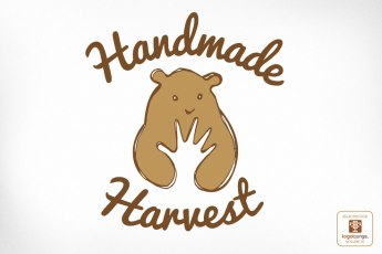 Award Winning Logo Design Handmade Harvest Bear with Hand
