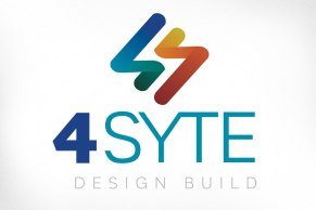 4Syte Design Build specializes in sustainable residential construction with a focus on designing, building or renovating homes to be at least 50% more energy efficient than current building code, along with integrating natural building materials and ecological design. The ribbons in the new logo convey the notion of a continuum, of looking forward and building towards the future; this constancy can also signify the notion of sustainability and the natural cycle of using sustainable products.