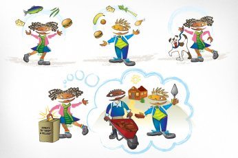 Free The Children – Life in Action: Illustrations created for the Life in Action program developed by Free The Children, an international charity and educational partner. Posters were designed to educate and empower youth to change themselves and the world through healthy daily choices.