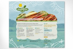 Dandelion Foods: The old site for Dandelion Foods was a fully customized Wordpress site designed to show the original engaging and quirky branding developed by Sumack Loft for this full service health food store. The site features blog posts on the home page, with a slider that takes the viewer to a specific post, a sidebar for permanent content, as well as important contact information. The team at Dandelion realized they needed a complete overhaul in 2016; to see the new site please go to www.dandelionfoods.ca. Logo was also designed at Sumack Loft.