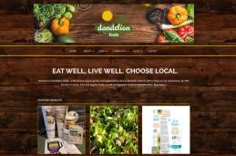 Almonte Web Design –Dandelion Foods Health Food Store Site