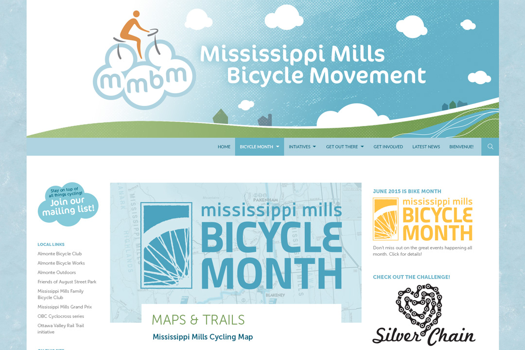 Mississippi Mills Web Design Bicycle Month Site