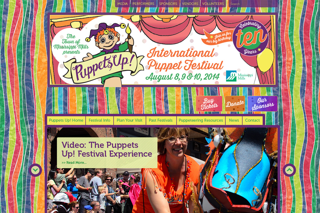 Almonte Web Design – International Puppet Festival Site
