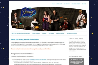 Almonte Web Design – Young Awards Youth Arts Site