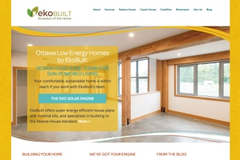Ottawa Web Design – EkoBuilt Low Energy Home Builders Site