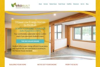 Ottawa Web Design –EkoBuilt Low Energy Home Builders Site