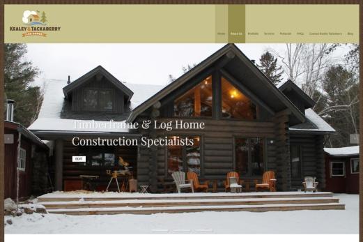 Ottawa Web Design – Log Home Builders Site