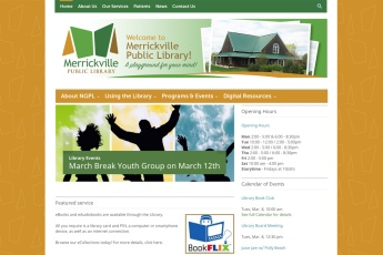 Merrickville Web Design – Public Library site