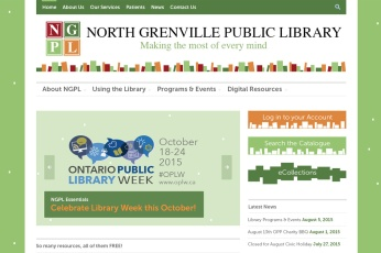 North Grenville Web Design – Public Library Site