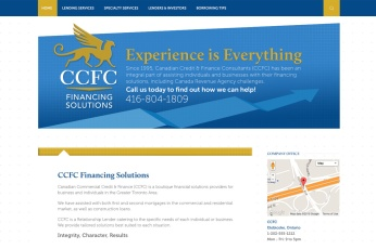 Toronto Web Design – CCFC Financial Solutions Site