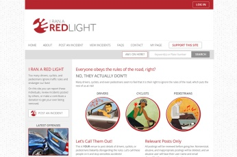 Canada Web Design – I Ran A Red Light Public Service