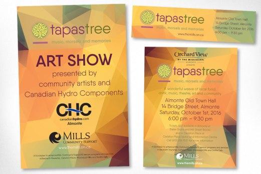 Almonte Graphic Design – TapasTree Seniors Program Fundraiser Promotional Materials
