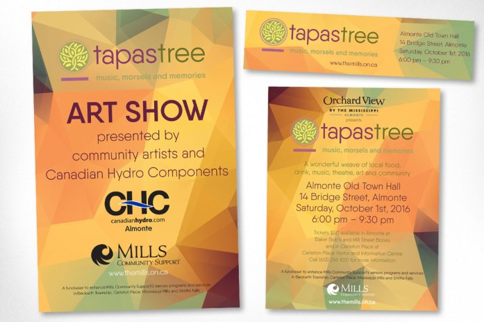 Almonte Graphic Design – TapasTree Seniors Program Fundraiser Promotional Materials