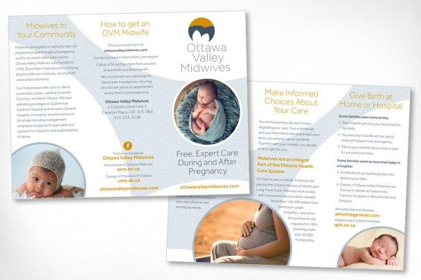 Ottawa Graphic Design – Ottawa Valley Midwives Brochure