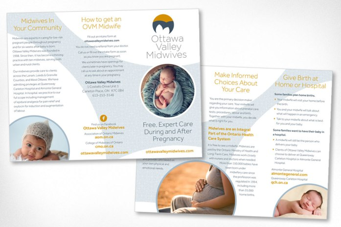 Ottawa Graphic Design – Ottawa Valley Midwives Brochure