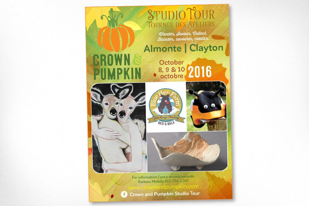 Ottawa Graphic Design – Crown and Pumpkin Studio Tour Advertising