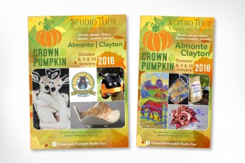 Ottawa Graphic Design – Crown and Pumpkin Studio Tour Advertising