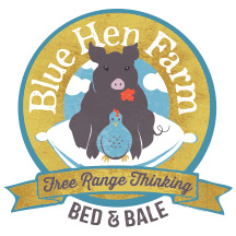 Final logo for Blue Hen Farm's new brand identity