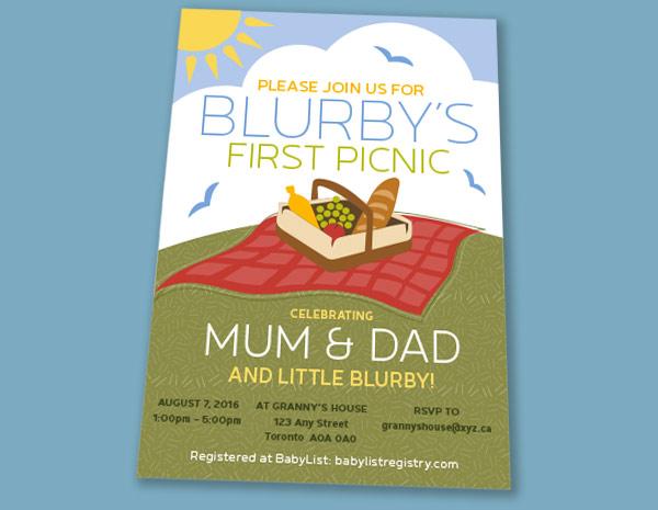 Ottawa Graphic Design Baby Invite
