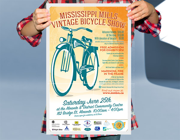 Ottawa Graphic Design Bicycle Show Poster