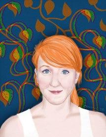 """Allison: (not for sale) 2008 11"""" x 17"""" graphite/digital paint(portrait commissions available)"""