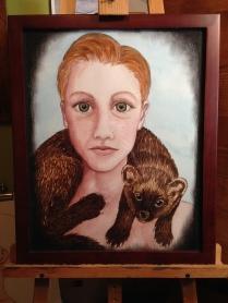 Ottawa Artist - Woman with Fisher Cat around Neck
