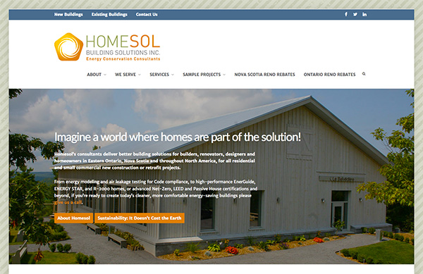 Homesol Building Solutions - Ottawa Web Design