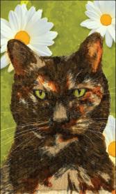 "Whiskers: (not for sale) 2010 8"" x 10"" graphite/digital paint (pet portrait commissions available)"