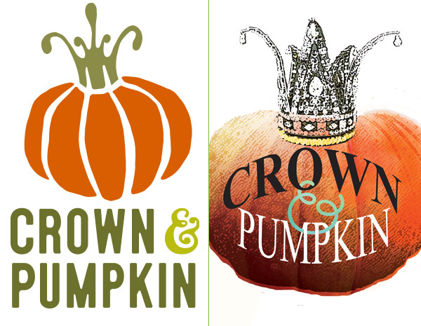 Almonte Graphic Design - Crown & Pumpkin Logo