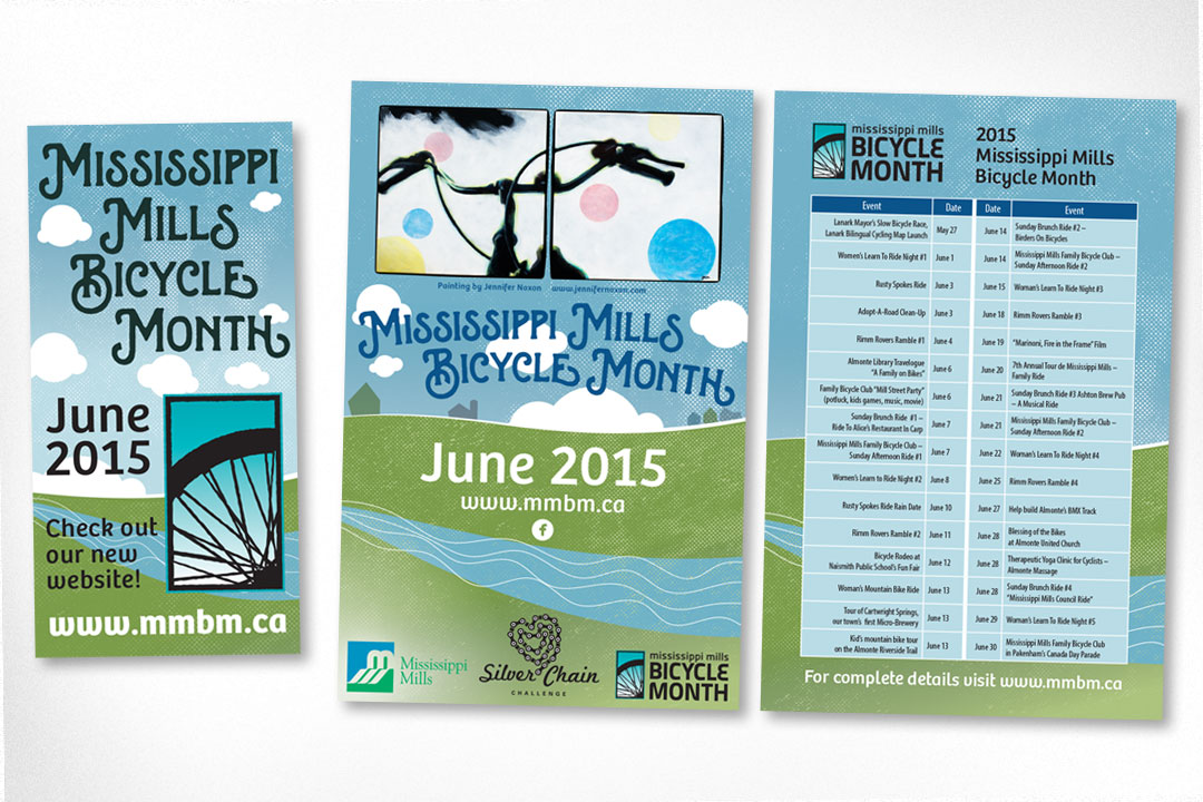 Graphic Design – Bicycle Month Materials