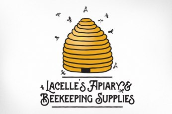 Almonte Logo Design – Lacelle's Apiary and Beekeeping Supplies, Hive, Bees Flying