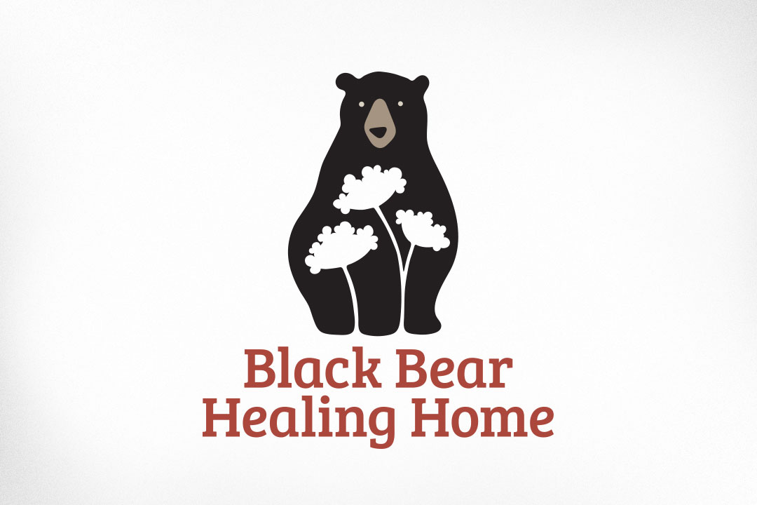 Ottawa Logo Design – Black Bear Healing Home, Queen Anne's Lace