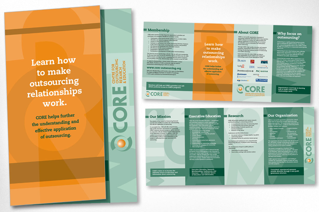 Graphic Design – CORE Brochure