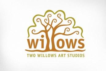 Toronto Logo Design – Two Willows Art Studios, Willow Trees