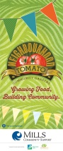 Ottawa Graphic Design Neighbourhood Tomato Community Gardens Roll Up Banner