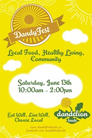 Ottawa Graphic Design DandyFest Health Food Store Poster