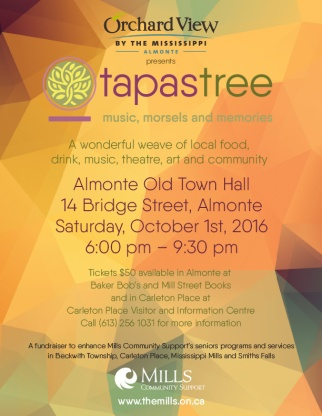 Ottawa Graphic Design Tapastree Seniors Fundraiser Poster