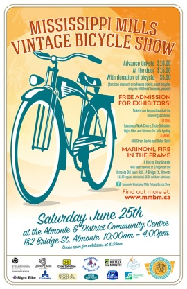Ottawa Graphic Designer Vintage Bicycle Show Poster