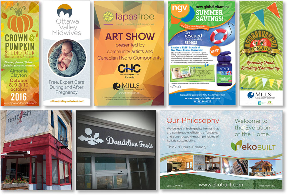 Business Cards, Brochures, Outdoor Signage – All The Graphic Design ...