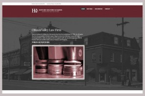 Howard, Kelford & DuBois: This established and highly regarded full service law firm's evolving partner structure, requiring a light rebrand, and the development of a second location brought them to us late last year for a new web presence. They asked for a site that conveyed their deep roots in the community and its history, as well as a sense of formality. To see the full site please go to https://valleylaw.ca