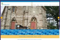 Holy Name of Mary Parish in Almonte, Ontario approached us to redesign their sadly out of date site. We helped them develop an attractive and easy to navigate new website, which can readily be updated by Church personnel. The site has loads of information organized neatly so that viewers can easily find what they're looking for. Logo also designed at Sumack Loft. To see the full site please go to https://hnomalmonte.ca