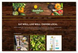 Dandelion Foods: One of my most loyal and cherished clients, Dandelion Foods, came to the realization in 2016 that their existing website, designed by Sumack Loft several years ago, was no longer doing the things that they needed it to do. My partners and I quickly put together a proposal for a new WordPress-based site with a brand update as requested by our client. Their site is now fresh and fun with a farmstead feeling including its barnboard background and array of delicious produce, while making it easy for our friends at the store to share store specials, instore events, etc. Logo also designed at Sumack Loft. To see the full site please go to www.dandelionfoods.ca.