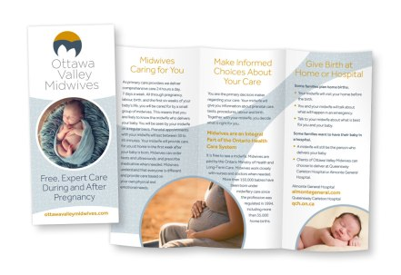Website design for midwifery group