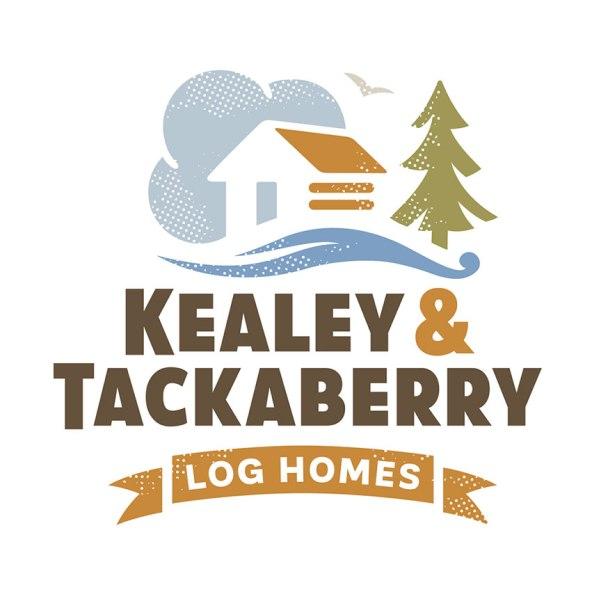 Logo for custom log home builder