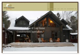 Kealey & Tackaberry Log Homes: This Ottawa-based custom log home builder specializes in sustainability while building homes that are as energy efficient as possible. Their new branding and website, designed at Sumack Loft, represents both the traditional nature of the build as well as their creative and modern process. It emphasizes a seamless integration into the environment, a sense of living lightly, with a small carbon footprint. To see the full site please go to: https://kealeytackaberryloghomes.com.