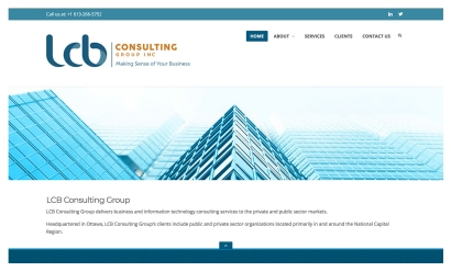 LCB Consulting: Sometimes a logo design can inform website development to a large degree. The site for LCB Consulting is a simple development which is anchored by the corporate branding in a big way. To see the full site please go to: https://lcbconsultinggroup.com.