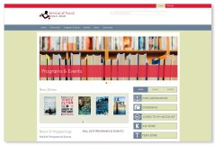 The Township of Russell Public Library: The lion's share of our websites are built on the Wordpress.com platform, with the occasional .org site and the even more occasional custom build. The Township of Russell Public Library hired us to develop a robust site on the Wordpress.org platform, and we were all very satisfied with the final product: convenient, effective, powerful, and lovely to look at! To see the full site please go to www.russellbiblio.com.