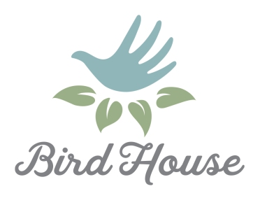"""$250: Do you have a home décor or handmade spa products business? This charming logo features a hand that doubles as a bird in a nest of leaves, a visual representation of the expression """"a bird in the hand is worth two in the bush""""."""