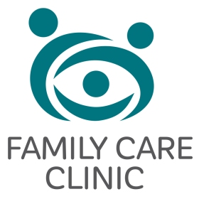 $300: A group hug becomes a smiling bear face in this charismatic and playful logo. This brand would work well for a family physician's office or other family care clinic.